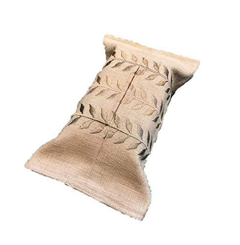 HUASU Tuchgewebekastenstickerei-Baumwollpapierhandtuchbeutelserviettenkasten gesetztes Papiertuch, das Hauptlager,Blätterpumpt