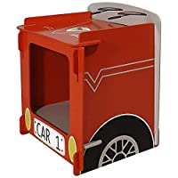 Kidsaw, Racing Car Bedside, Wood, Red, 35 x 29 x 29 cm