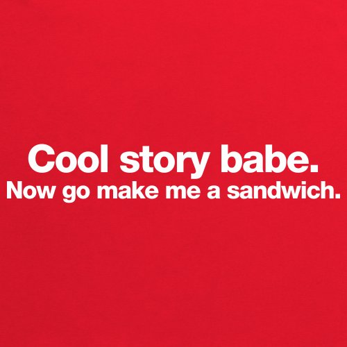 Cool Story Babe T-Shirt, Herren Rot