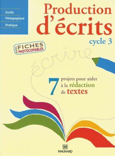 Production d'écrits Cycle 3