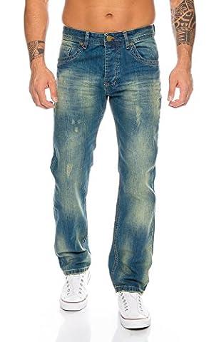 Rock Creek Herren Jeans Blau RC-2103A [W38