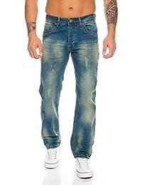 Rock Creek Herren Jeans Hose Denim Stretch Regular Fit Jeanshose Stonewashed W29-W44