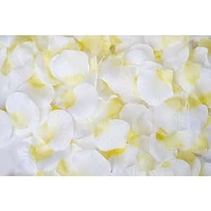 1000 pétales de rose blanche pétales de fleurs éparpillés mariage décoration Carnaval