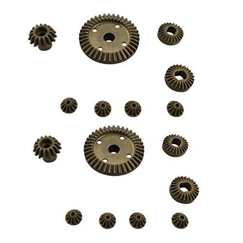 Fytoo 12T 15T 24T 38T Metall vorne und hinten Differential/Metallgetriebe Upgrade Zubehör für 1:18 Wltoys A949 A959 A969 A979 184012 RC Auto Upgrade Ersatzteile -