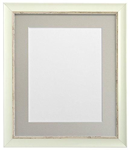 Frames By Post Weiß Nordic Bilderrahmen mit weißem Passepartout, Schwarz, Hellblau, Rosa, Elfenbein, grau, dunkelblau grau, und Hellgrau Halterung, plastik, Light Grey Mount, 6