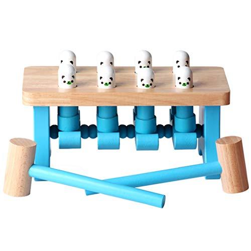 jfhrfged Setzen Sie mit einem Hammer auf die Bank, der Durchschlags- und Tropfeninstrumentbankholzspielzeugkinderstapelschlagbankspielzeugpuzzlespielspielzeug hämmert
