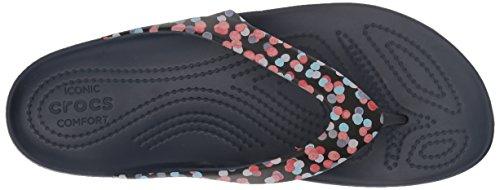 Crocs Kadee II Graphic Flip Women, Infradito Donna Multicolore (Dots/navy)