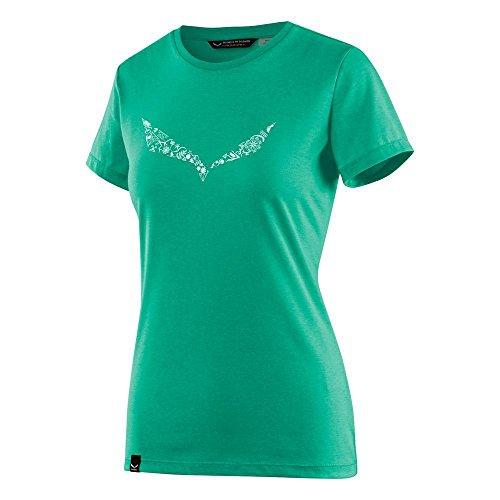 Salewa solid dri-rel s/s maglietta donna peacock gr. melange 40