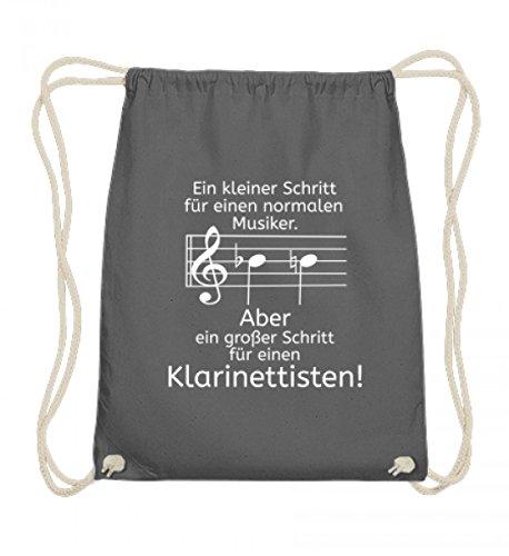 Hochwertige Baumwoll Gymsac - Klarinetten Shirt perfekt als Geschenk für jeden Klarinettisten