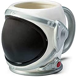 HMKZXQ Creative Space Astronaut Helmet 3D Mug Mirror Face Mask Geek Spaceman Ceramic Handgrip Coffee Cups Kids Water Drinking Tumbler