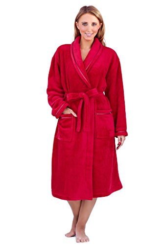Loungeable Boutique Damen Morgenmantel Rot - Rot
