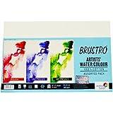 Brustro 100% Cotton Artists' Watercolour Paper 300 GSM 14 X 21 cm (Assorted HP,CP,Rough- 3x4 Each)