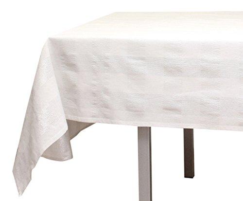 Tovaglia quadrata in cotone lyam bianca
