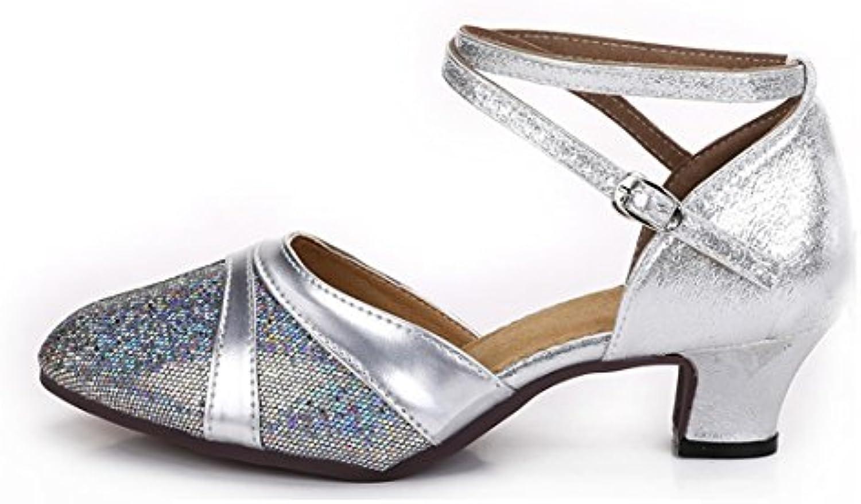 Wxmddn Chaussures de danse latine chaussures de de de danse adultes femelles d'argent avec des semelles souples de style...B0777PHB4VParent | Mende  | Outlet Online  636a8a