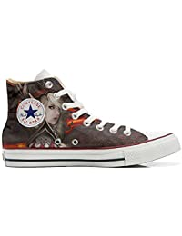 Converse Original, Customized With Printed Italian Style (Custom Shoes) Woman Warrior