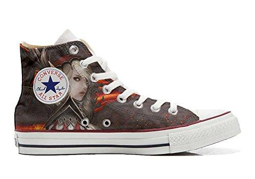 Converse Customized Adulte - chaussures coutume (produit artisanal) femme Warrior