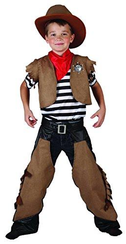 Cowboy Kinder-Kostüm braun-schwarz 104/116 (4-6 Jahre)