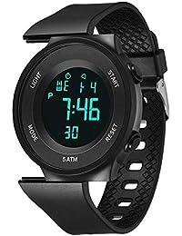 Enfants numériques Montres de Sport d'alarme LED analogique Montre Bracelet avec chronographe étanche Montre-Bracelet Alarme/minuteur/LED Lumière, Montre électronique pour Adolescents garçons Enfants