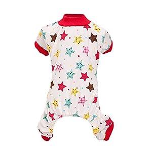 Brightup Pyjamas Vêtements de Cartoon Jumpsuit en Coton pour Chien Chiot