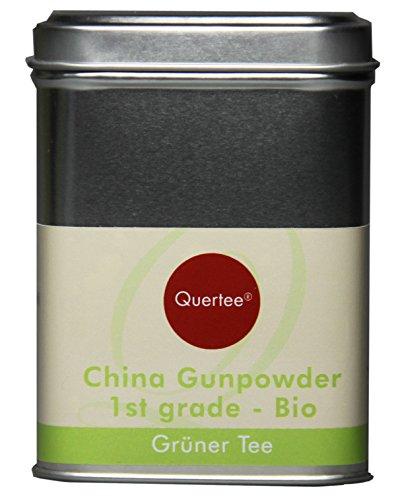 Quertee - Grüner Tee - China Gunpowder 1st grade in einer Teedose - 130 g - Loser Biotee, 1er Pack (1 x 130 g)