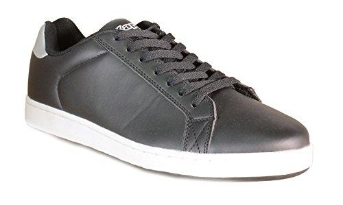 Kappa - Kappa Sirtaki Scarpe Sneakers Basse Pelle Uomo Donna Nero - 301S4T0 - 43 1/3, Nero