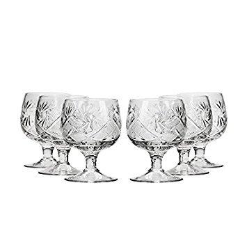 njoman Kristall wg5290, 1,5oz Kristall, Hand Made Tequila/Wodka Schnapsgläser, Einzigartige Goblet Shot Glas Set von 6 - Crystal Shot Glas Set