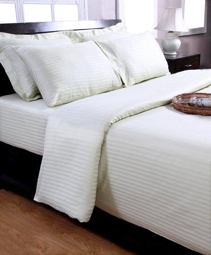 Homescapes Damast Kopfkissenbezug 40 x 40 cm 100% reine ägyptische Baumwolle Kissenbezug Fadenzahl 330 lindgrün