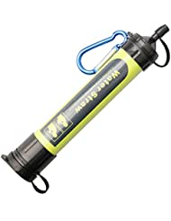 A-szcxtop Filtro de agua paja seguridad y purificador de agua portátil para actividades al aire libre o de emergencia (verde)