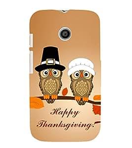 EPICCASE happy thanksgiving Mobile Back Case Cover For Moto E (Designer Case)