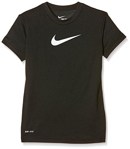 Nike Mädchen Oberbekleidung Shortsleeve Legend Tee T-Shirt, Black/White, M