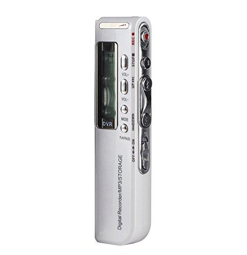Soja Digital Voice Recorder, Stimme aktiviert Record-Sound Stereo Recorder wiederaufladbar Diktiergerät LCD-MP3-Player Flash Drive mit 8GB/16GB built-in-memory für Klassen Vorträge Meetings Learning Notizen (Mp3-player Voice Activated)