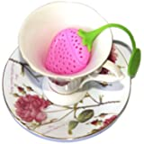 BUCKLE UP Silicone Tea Strainer (Pink, Standard Size)