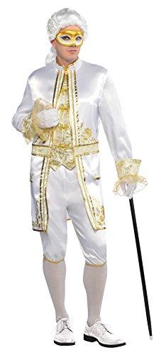 Amscan International Erwachsene Casanova venezianisches Kostüm (Größe M) (Einfache Venezianische Kostüm)