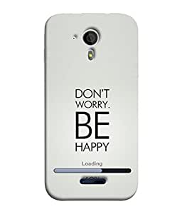 FUSON Designer Back Case Cover for Micromax Canvas Magnus A117 :: Micromax A117 Canvas Magnus (Loading Sixty Two Percentage Be Happy Never Worry)