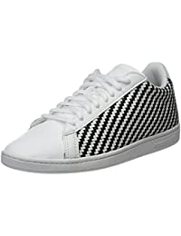 check out 1fcd5 756bc Le Coq Sportif Women s Courtset W Woven Optical White Black Trainers