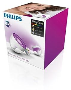 Philips Living Colors Iris, EEK A, Energiesparende LED-Technologie mit 10 Watt, 16 Millionen Farben, mit Fernbedienung, klar 7099960PH