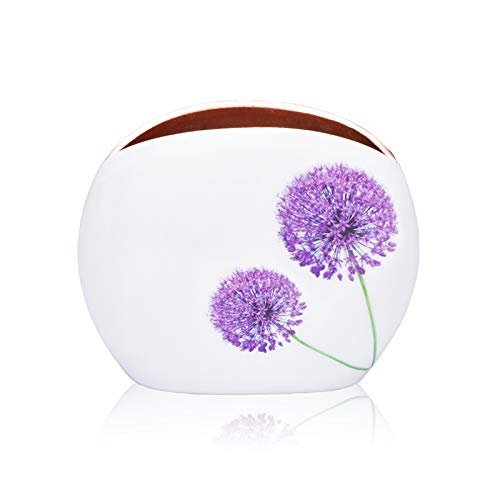 Jasper - Designer Flower vase with Blossom Pattern for Home Decor in Living Room, Bedroom, Office, Dining, Console and Center Table, Unique & Special Gift idea for Many Occasions (Rose Gold-7 inch)