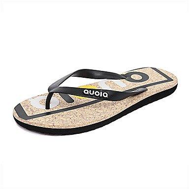 Slippers & amp da uomo;Sandali con tacco Comfort PU Estate Outdoor piatte sandali US8.5-9 / EU41 / UK7.5-8 / CN42