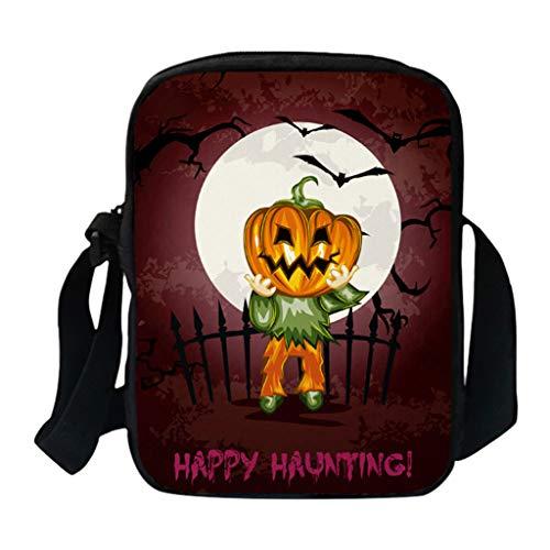 Xuthuly Fashion Classic Halloween Bags Lustige Frauen Und Männer Einzelner Schulterbeutel Kürbis Messenger Bags