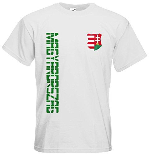 Ungarn Magyarország T-Shirt Trikot Name Nummer Weiß