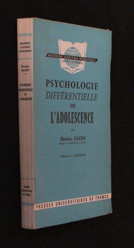 Psychologie diffrentielle de l'adolescence : Etude de la reprsentation de soi
