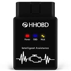 EXZA HHOBD (2. Gen.) OBD2 Diagnosegerät, OBD-2 Diagnose von Fehlern und Sensor-Daten im Fahrzeug in Echtzeit, aktiv nach Verbindung zum Smartphone über Bluetooth