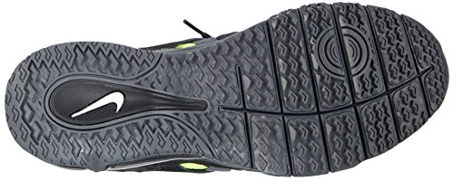 Nike Fingertrap Max, Chaussures de Fitness homme Gris (black/white-dark Grey-volt 017)
