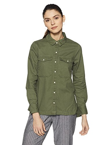 Forever 21 Women's Cotton Jacket (00212792013_0021279201_Olive/RED/Multi_3_)