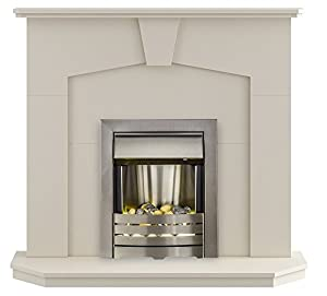 The Abbey Modern Fireplace with Helios Electric Fire