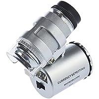 Sonline Mini microscopio LED 60x tascabile per gioielliere lente di ingrandimento regolabile