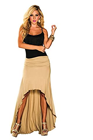 Mapalé by AM:PM Women's Convertible High Low Dress Or Skirt, Mocha, Small