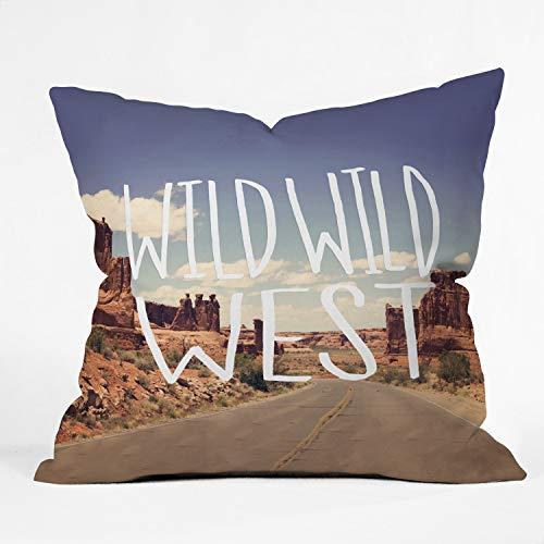 Suminla-Home Wild Wild West Überwurf-Kissenbezüge, Dekoration, einzigartige Kunst-Kissenbezüge, Couch-Bezug, 45,7 x 45,7 cm