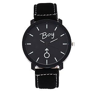 Couple Uhren, BBring Herren Damen Einfache Mode PU Leder Quarz Armbanduhr Liebhaber Uhren Geschenk