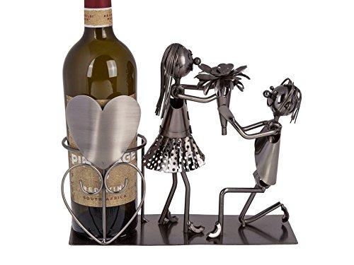 wunderschöner,edeler Metall Flaschenhalter Hochzeitspaar,Liebespaar Hochzeitsgeschenk